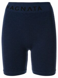 Nagnata merino wool blend Suki biker shorts - Blue