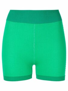 Nagnata Yoni side stripe compression shorts - Green