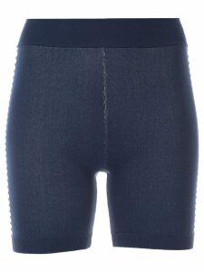 Nagnata Bodhi side stripe biker shorts - Blue