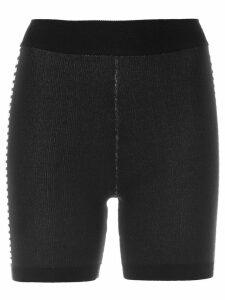 Nagnata Bodhi side stripe biker shorts - Black
