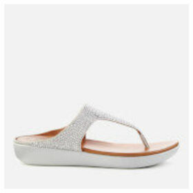 FitFlop Women's Banda Crystalled Toe Post Sandals - Silver - UK 5 - Silver