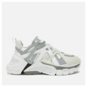 Ash Women's Flash Running Style Trainers - White/Silver - UK 7