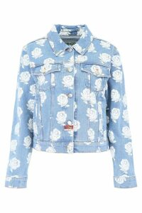 Kenzo Rose Print Denim Jacket