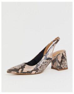 ASOS DESIGN Samson slingback mid heels-Multi