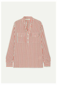 Vanessa Bruno - Lauren Striped Silk Crepe De Chine Shirt - Red