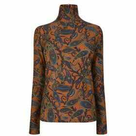 Chloe Paisley Print Long Sleeve Top