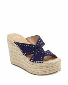 Marc Fisher Ltd. Women's Angelina Studded Espadrille Wedge Sandals