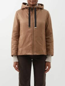 Malone Souliers - Nora Gingham Canvas And Leather Sandals - Womens - Orange Multi