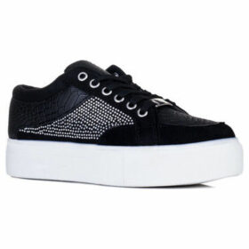Spylovebuy  CROCODILA  women's Shoes (Trainers) in Black