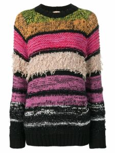 Nº21 striped crew neck jumper - Pink