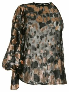 Petar Petrov Brady one-shoulder jacquard blouse - Black