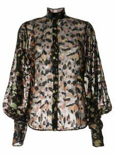 Petar Petrov Bowie sheer jacquard blouse - Black