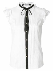 Guild Prime ruffle trim blouse - White