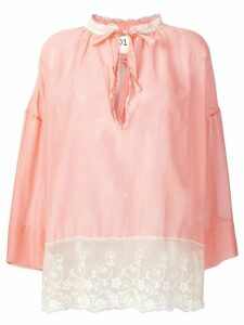 Semicouture lace insert blouse - Pink