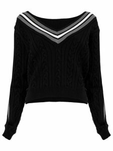 Y/Project cable knit jumper - Black