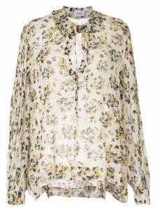 Dondup floral-print chiffon blouse - White