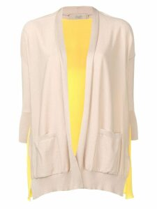 Maison Flaneur contrast draped cardigan - Yellow