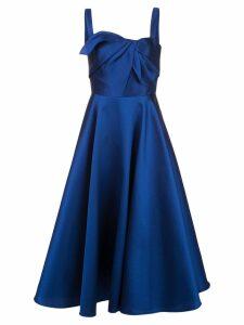 Marchesa Notte Mikado tea dress - Blue