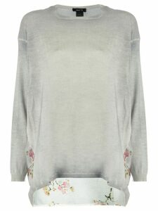 Avant Toi printed back sweater - Grey