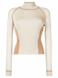 Fendi color block sweater - Neutrals
