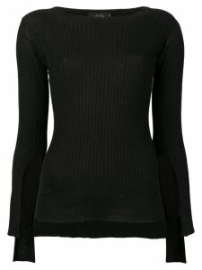 Maison Flaneur long-sleeve fitted top - Black