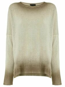 Avant Toi oversized gradient sweater - Neutrals