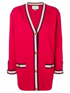 Gucci oversized cardigan with Web detail - Red
