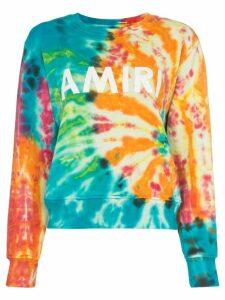 AMIRI tie-dye crew-neck sweatshirt - Green