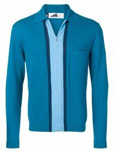 Anglozine Decima zipped cardigan - Blue