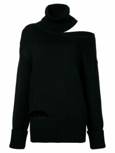 Monse off shoulder cut-out sweater - Black