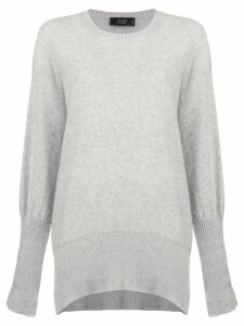 Maison Flaneur draped long-sleeve sweater - Grey