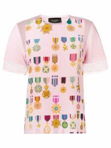 Mr & Mrs Italy medal print T-shirt - PINK