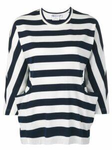 Comme Des Garçons Comme Des Garçons striped crew neck sweater - Blue
