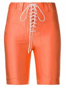 Unravel Project tie-front shorts - Orange