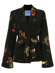Macgraw Cognac robe coat - Black