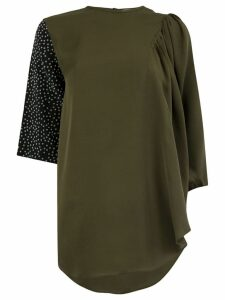JW Anderson asymmetric sleeve blouse - Green