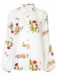 Macgraw Bonlour floral print blouse - White