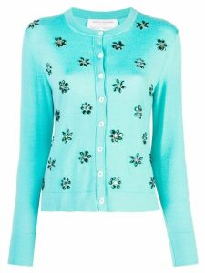 Carolina Herrera embellished cardigan - Blue
