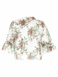Macgraw Bourgeois cropped blouse - Multicolour