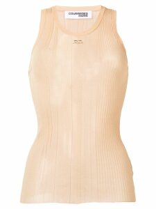 Courrèges knitted vest top - NEUTRALS