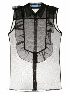 Macgraw Bonnie sleeveless sheer blouse - Black