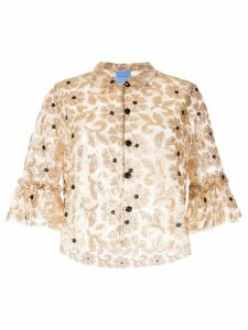 Macgraw Bourgeois embellished top - GOLD