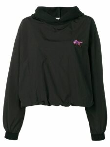 T By Alexander Wang washed nylon hoodie - Black