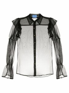Macgraw Souffle sheer blouse - Black
