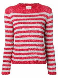 Saint Laurent rhinestone-decorated sailor top - Red
