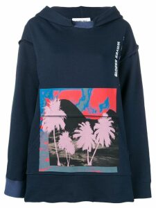 Ambush photographic-print oversized hoodie - Blue