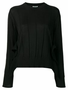 Kenzo pleated knit jumper - Black