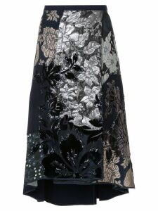 Biyan embroidered asymmetrical skirt - Blue