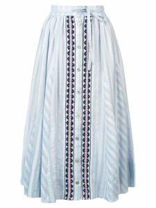 lemlem Nefasi button-down full skirt - Blue