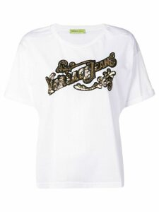 Versace Jeans Couture mesh logo T-shirt - White